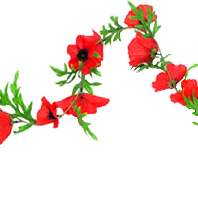 6ft artificial poppy flower garland flame red flowers shelf edge 6ft artificial poppy flower garland flame red flowers mightylinksfo