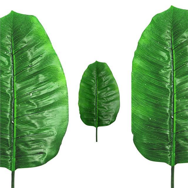 Artificial Raindrop Banana Leaf Decorative Tropical