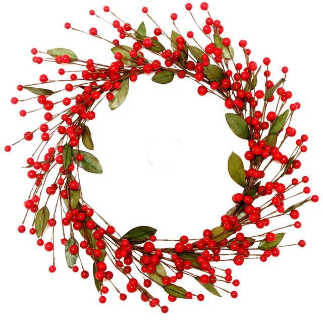 Red Berry Festive Christmas Wreath Decoration 35cm