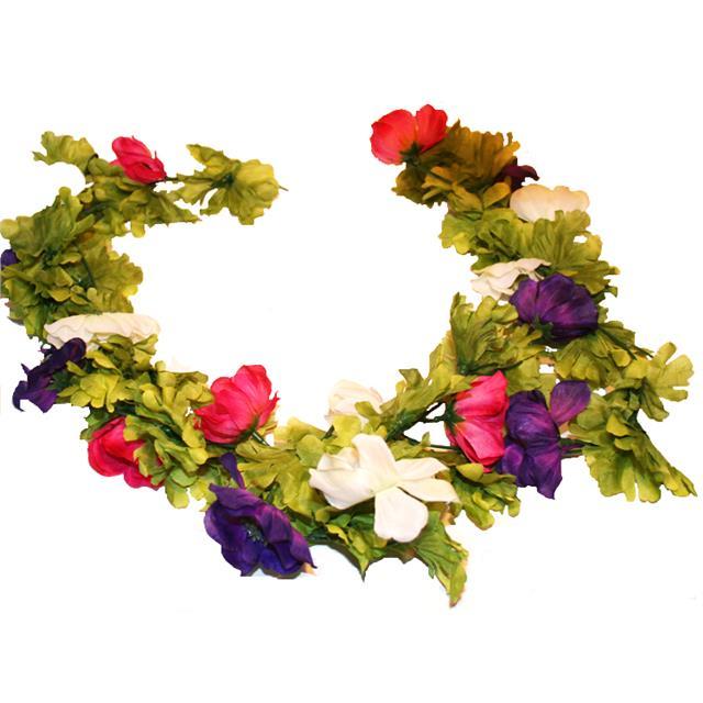 Buy silk flower garlands shelf edge 180cm artificial anemone flower garland purple pink white mightylinksfo