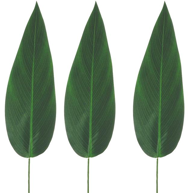 Artificial Tropical Bird Of Paradise Leaf Shelf Edge