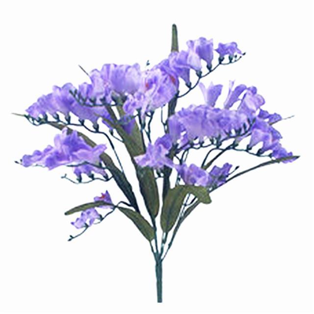 Artificial Freesia Bush Purple Shelf Edge