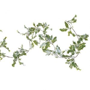 artificial-frosted-holly-garland