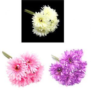 artificial-gerbera-flower-bundle-ivory-pink-purple