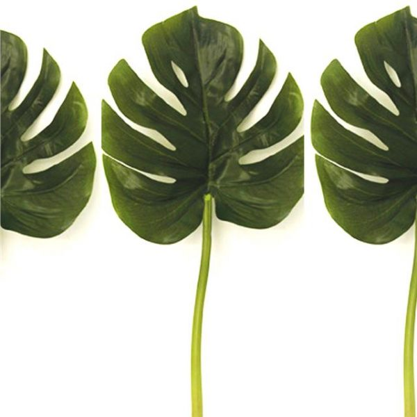 17cm artificial monstera leaf small swiss cheese plant decorative