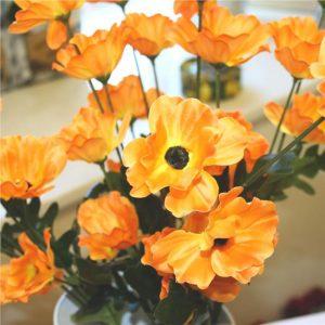 artificial-orange-poppies
