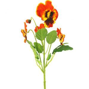 artificial-pansy-bush-orange