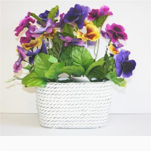 artificial-pansy-in-ceramic-vase