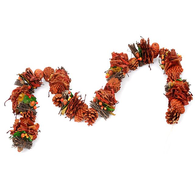 Artificial Rustic Festive Garland Decorative Autumn