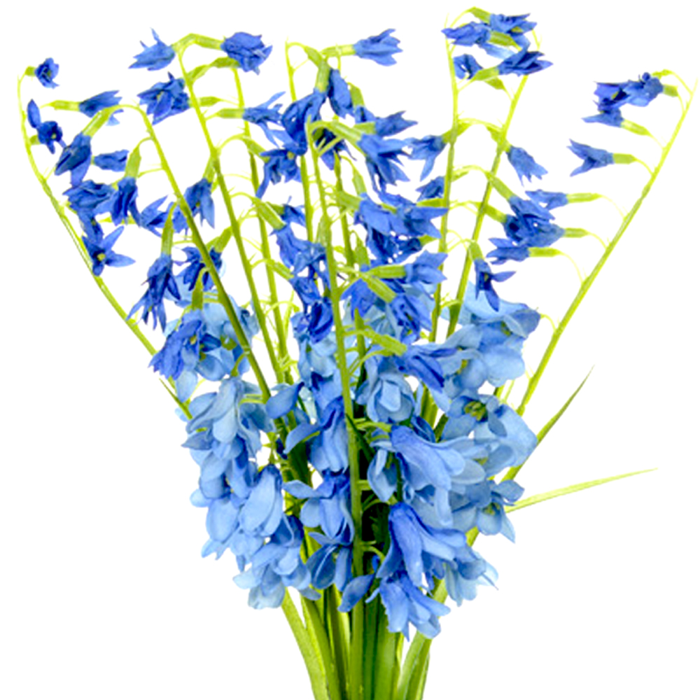 Artificial Bluebell Flowers Spring Bundle - | Shelf Edge