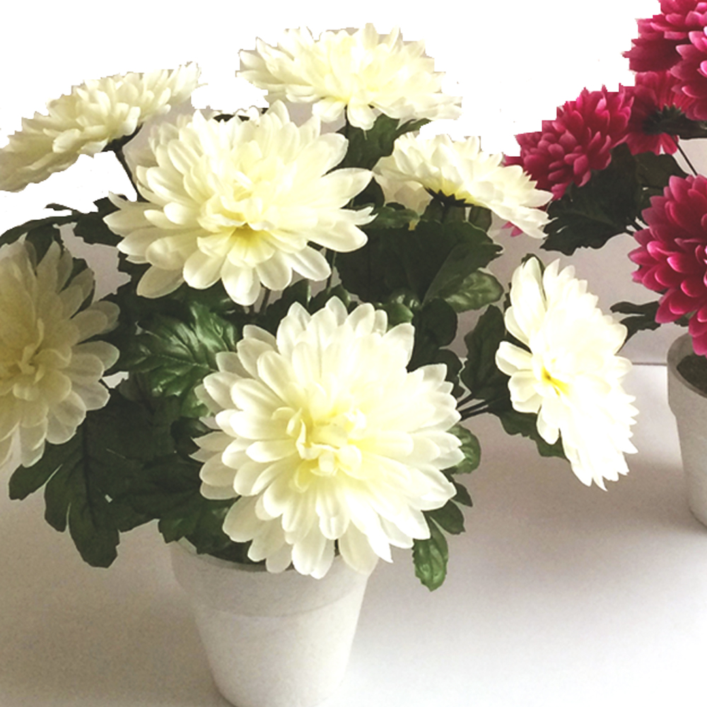 artificial silk white potted plant
