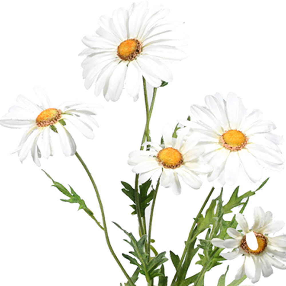 66cm Artificial White Silk Daisy Spray Shelf Edge