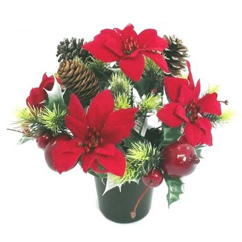 luxury-crem-pot-with-poinsettias-fuit-and-cones-red