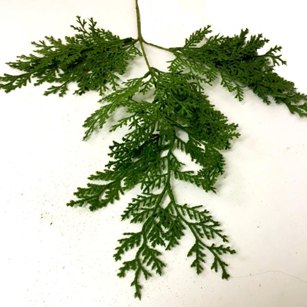 Artificial Cedar Tree Branch Spray Green Shelf Edge