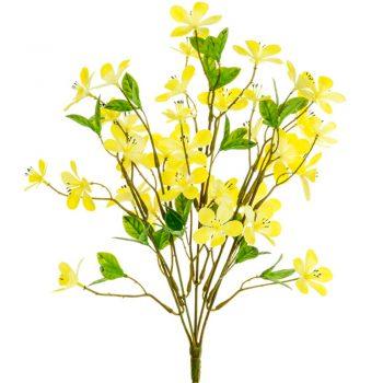 Artificial Plum Blosson Spray Yellow