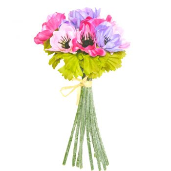 Artificial Anenome Posy Pink And Purple