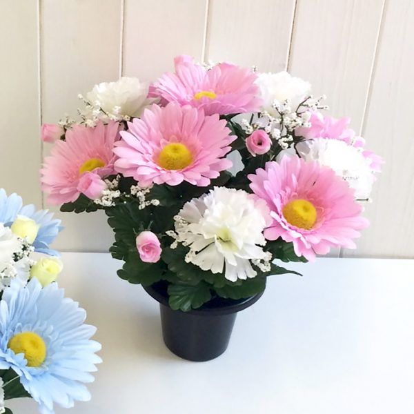 Baby grave vase Pink Flowers
