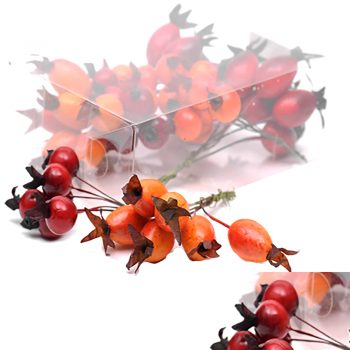 4 Bunches of Artificial Autumn Spiky Berries