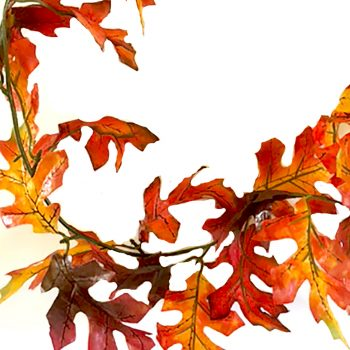180cm Red Oak Leaf Garland x60