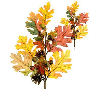 Artificial Autumn Oak Spray