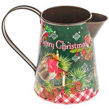 Merry Christmas Robin Jug