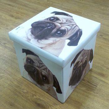 Pug Fce Folding Storge Box
