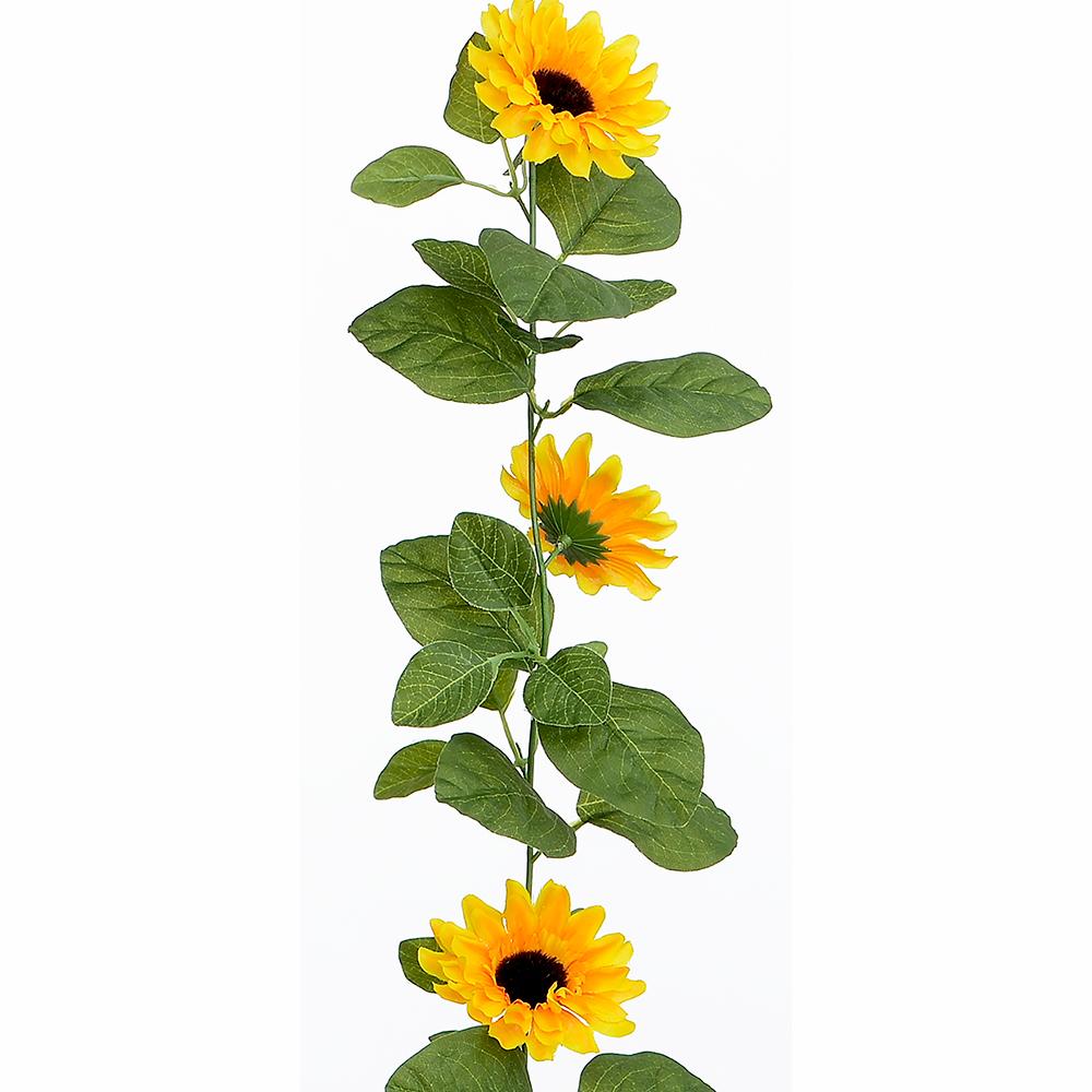 5ft Artificial Sunflower Garland Fake Flowers Ivy Silk