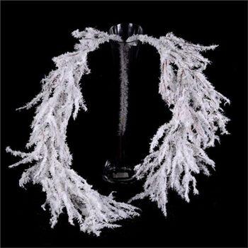 Artificial Snow Willow Garland