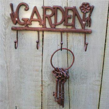 cast iron garden tool hooks