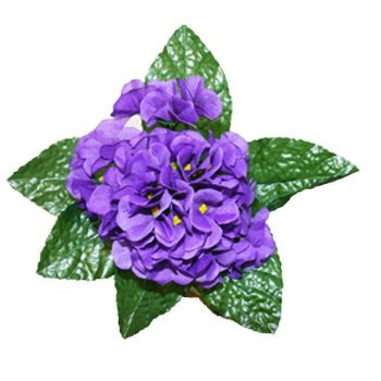Artificial African Violet Bush