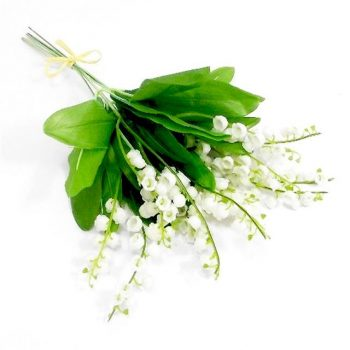 Artificial White Lily of the Valley Bundle