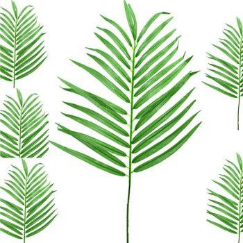 Pair of Artificial Parlour Palm Leaf