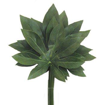 Artificial Green Aralia Leaf - Pack of 4
