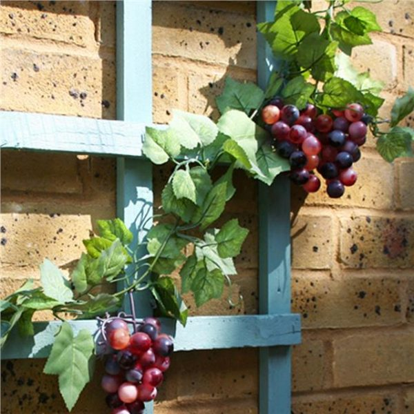 fruit and foliage on an artificial grape garland