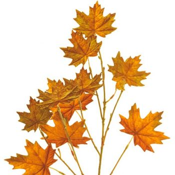 Artificial Autumn Maple Leaf Spray