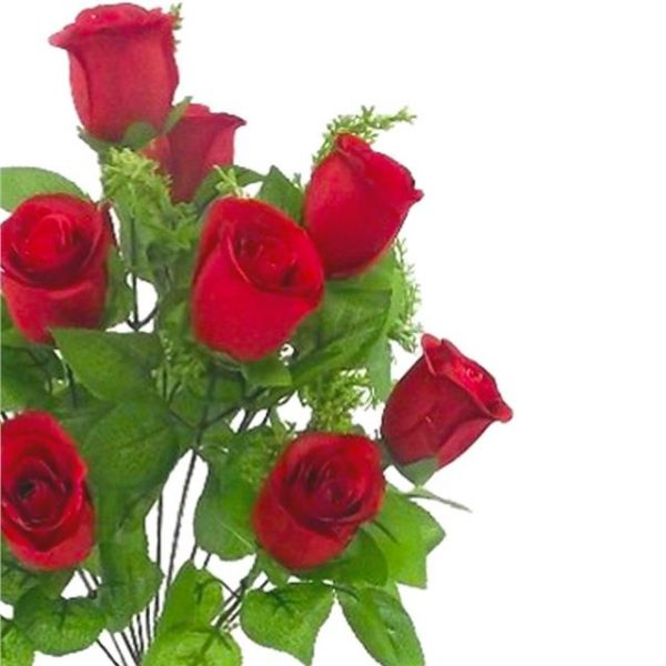 red artificial rose bouquet