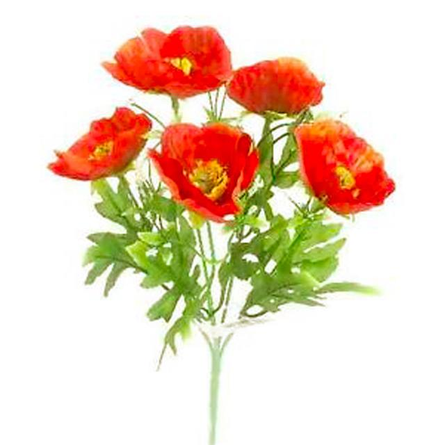 28cm small poppy bush red decorative poppies bushes plant 28cm small poppy mightylinksfo