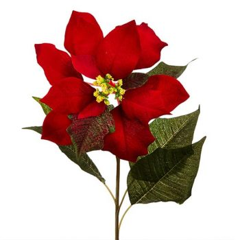 Artificial Poinsettia Flower Stem
