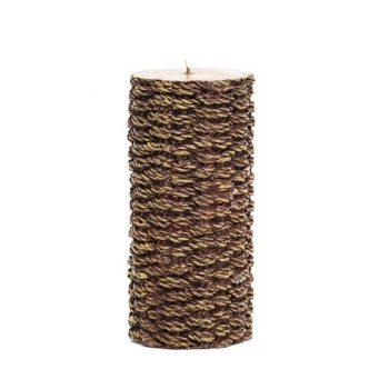 Jute Pillar Wax Candle