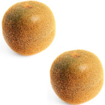 two artificial kiwi fruits