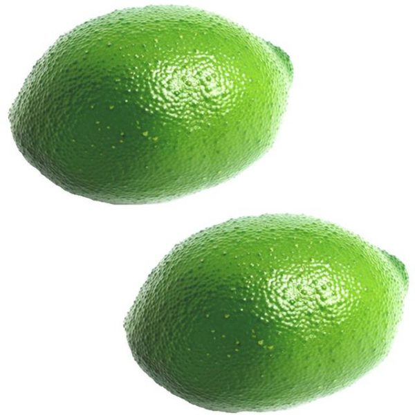 two green artificial limes