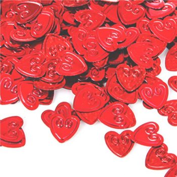 red love heart confetti