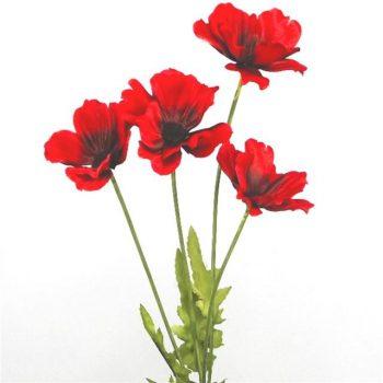 artificial red poppy stem