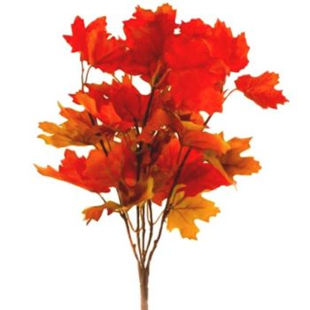 Artificial Autumn Leaves Maple Bush - Orange / Yellow