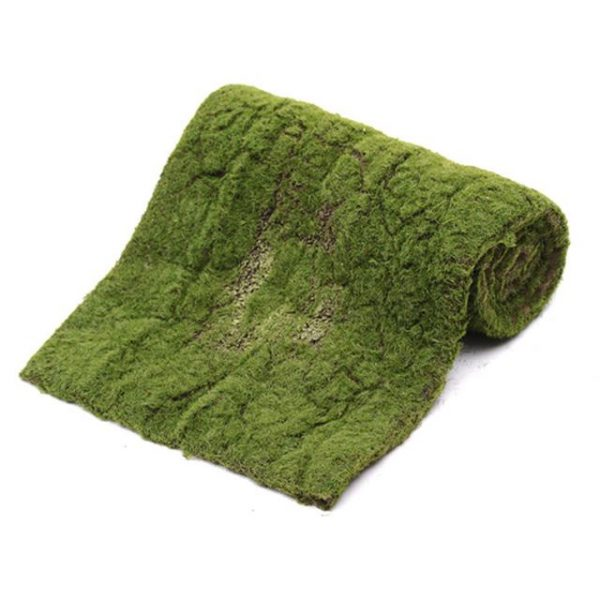 green fake moss roll