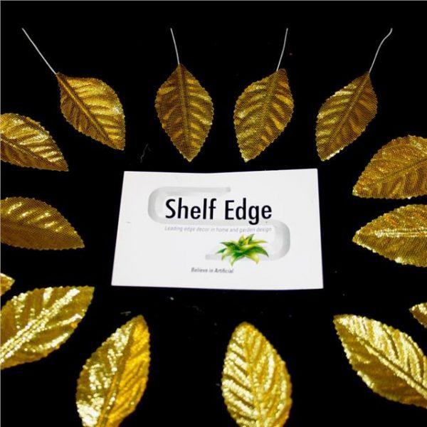 Artificial Handmade Gold Rose Leaves