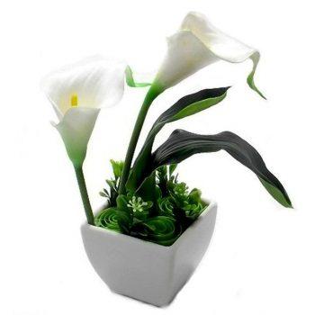 Artificial Calla Lily in a Ceramic Pot