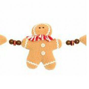 Christmas Gingerbread Man Garland