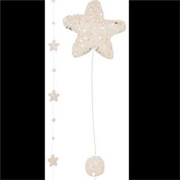 Glistening Star Christmas Garland