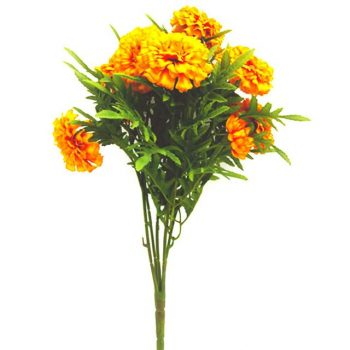 orange artificial marigold flowers